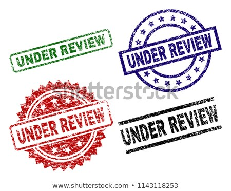 Stock photo: Under review rubber stamp