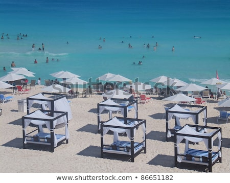 Peaceful Caribbean Beach Cabana Stock photo © mosnell