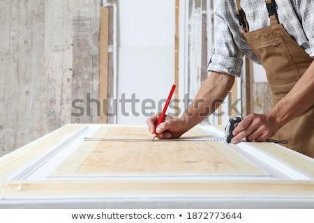 Stok fotoğraf: Inşaat · işçi · iş · çelik · tahta