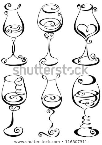The stylized wine glass Stock photo © IMaster