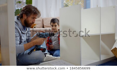 Montage of happy little boy at home Stock photo © photography33