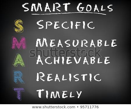 スマート · 目標 · 管理 · 目標 · 黒板 · 書く - ストックフォト © bbbar