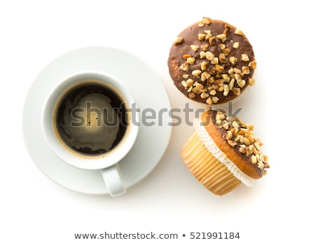 nut cake with coffee isolated on white background Stock photo © juniart