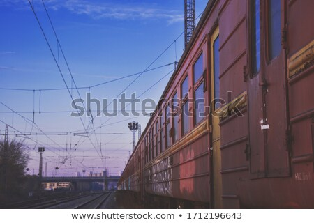 Abandoned industrial train factory side wiew Stock photo © vetdoctor