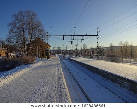 Staal trein landschap vervoer oude Stockfoto © jeremywhat