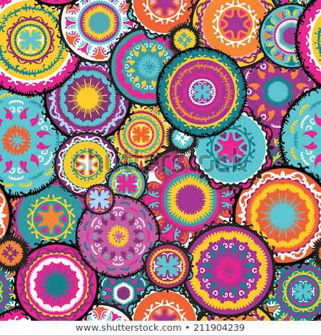 Eastern pattern moroccan colors Stock photo © lkeskinen