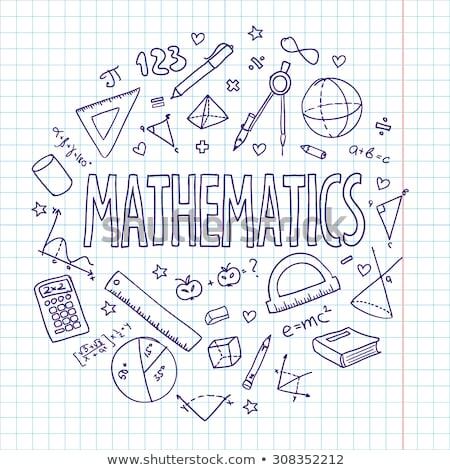 Снова в школу Math Desktop изолированный белый назад Сток-фото © HectorSnchz
