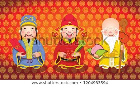 Chińczyk boga popularny nowy rok symbol sztuki Zdjęcia stock © sahua
