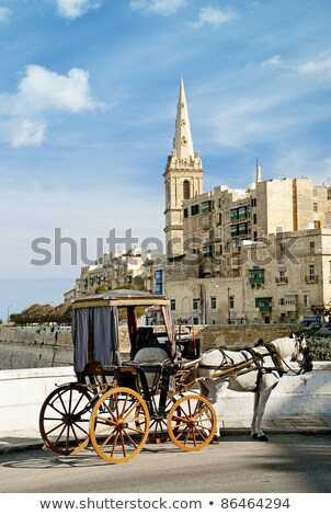 Stock photo: horsedrawn cart in valetta malta