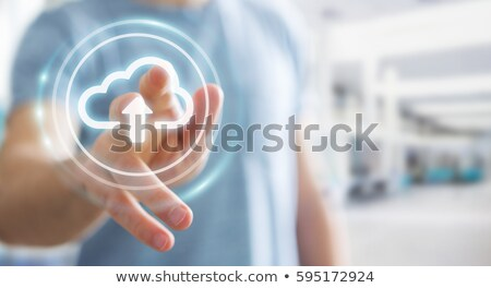 hand cloud and multimedia icons stock photo © vlad_star