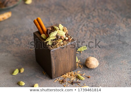 Vak indian specerijen kerrie zwarte mosterd Stockfoto © sumners