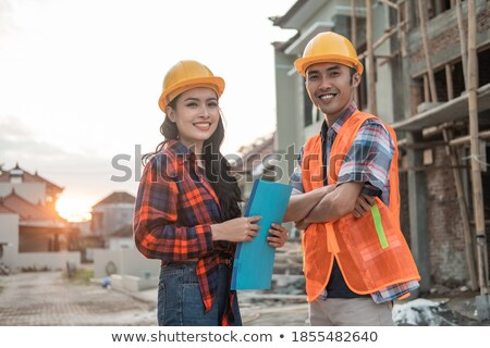 Two male builders stood together Stock photo © photography33