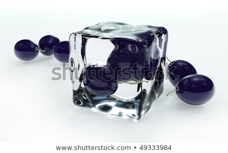 Ice cube and plum Stock photo © Givaga
