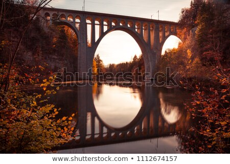 Crimson Autumn Reflection Stock photo © ca2hill