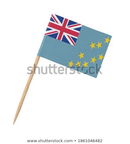 Minyatür bayrak Tuvalu yalıtılmış toplantı Stok fotoğraf © bosphorus