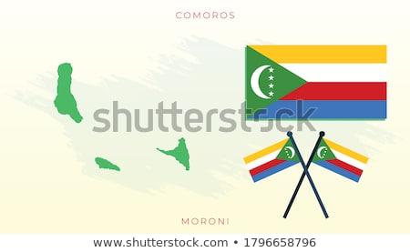 Коморские острова карта флаг звездой черный диаграммы Сток-фото © tshooter