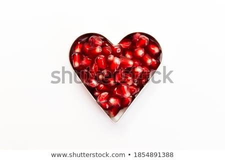 Szív alak rubin fehér absztrakt vektor művészet Stock fotó © robertosch