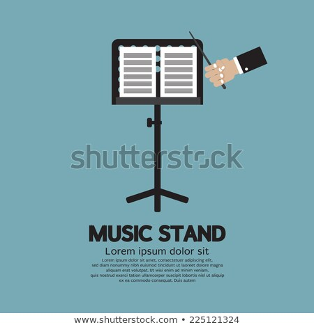 music stand and sheet music stock photo © marimorena