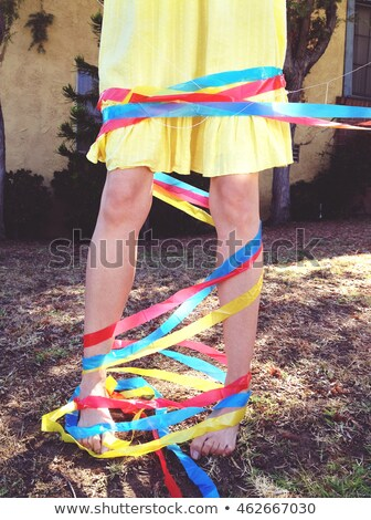 woman all tied up Stock photo © jayfish