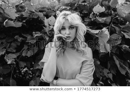 çekici · sarışın · kadın · dudaklar · beyaz · moda - stok fotoğraf © wavebreak_media