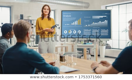 growth graph on blackboard stock photo © ivelin