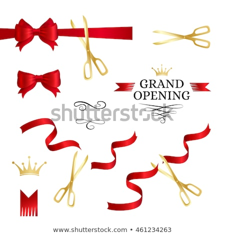 Noel · satış · duyuru · kırmızı · kâğıt · etiket - stok fotoğraf © lightsource