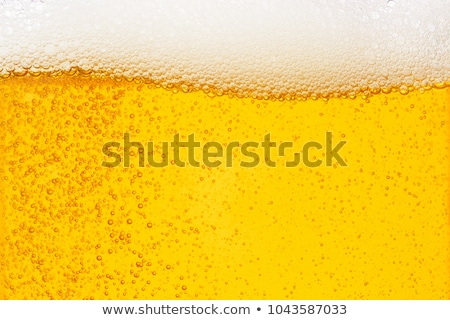 Stock photo: glass with bubbles in beer