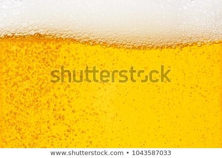 Foto stock: Vidro · bubbles · cerveja · isolado · branco · beber