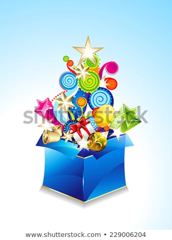 abstract exploade magic box with floral stock photo © rioillustrator