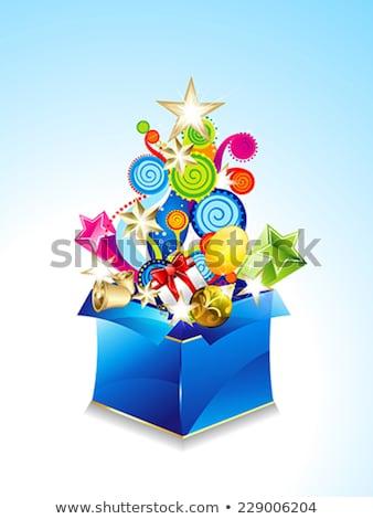 absztrakt · mágikus · doboz · virágmintás · születésnap · háttér - stock fotó © rioillustrator