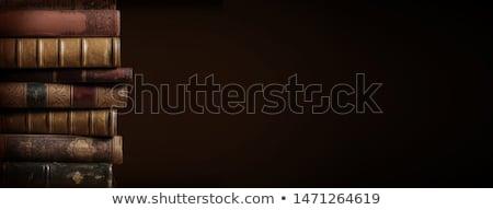 oude · boeken · Rood · leder · kunst - stockfoto © hofmeester