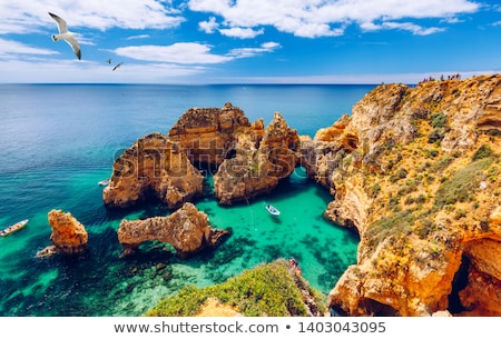 Sahil okyanus doğa manzara mavi Stok fotoğraf © gvictoria