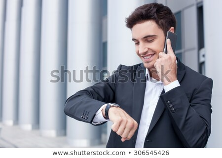 Business professionals arranging a meeting time Stock photo © photography33