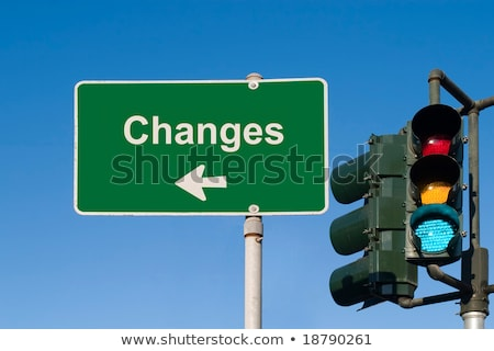 Changes - Road Sign. Motivation Slogan. Stock photo © tashatuvango