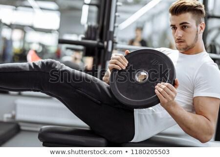 Jóképű fiatal fickó izmos test fiatalember meztelen Stock fotó © konradbak
