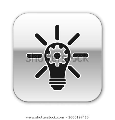 technology, innovation, creativity in silver grey gears Stock photo © marinini
