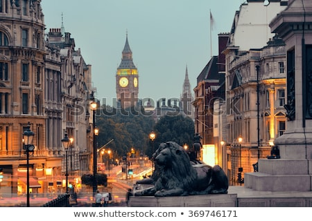 Stockfoto: Galerij · vierkante · nacht · Londen · eenheid · Verenigd · Koninkrijk