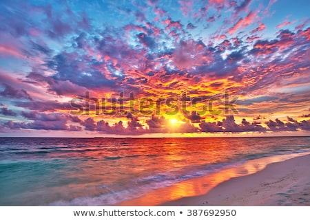 Puesta de sol océano colorido playa agua paisaje Foto stock © dinozzaver
