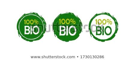 Stock fotó: 100 · bio · pecsét · vektor · háttér · vásárlás