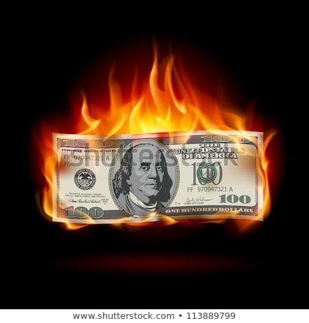 Ateşli para el tok nakit yanan Stok fotoğraf © ArenaCreative