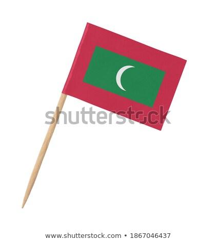Miniatuur vlag Maldiven geïsoleerd Rood Stockfoto © bosphorus