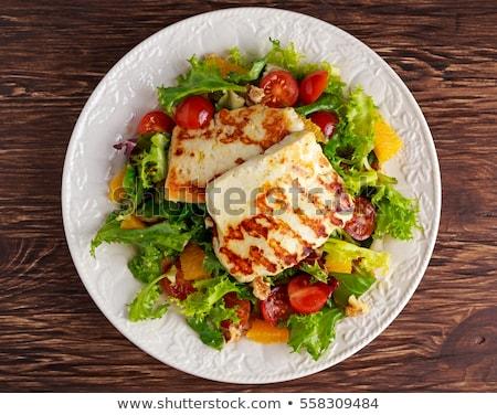 grelhado · salada · saboroso · verde · alface · maduro - foto stock © silkenphotography