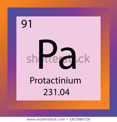symbol for the chemical element protactinium stock photo © zerbor
