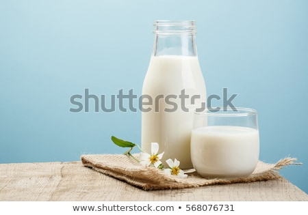 tej · üveg · izolált · fehér · konyha · tehén - stock fotó © devon