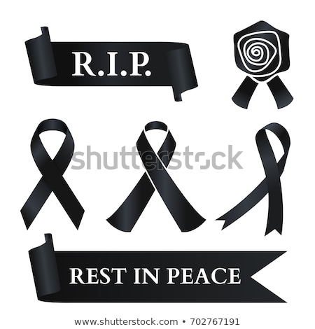 R.I.P.Vector illustration,  headstone, banner for halloween Stock photo © Glenofobiya