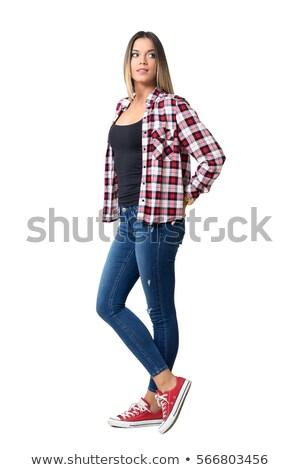 mulher · mãos · atrás · de · volta - foto stock © 805promo