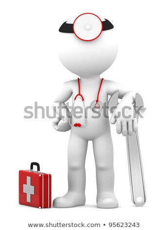 Medic with adjustable wrench. Repair concept Stock photo © Kirill_M