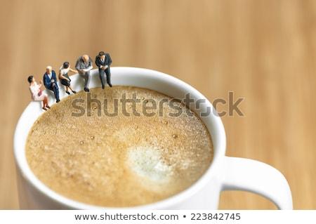 miniature business team having a coffee break stock photo © kirill_m