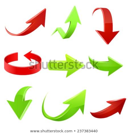 klant · groene · richting · teken · pijl - stockfoto © tashatuvango