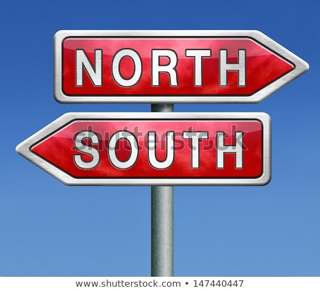 North or south, opposite signs Stock photo © stevanovicigor